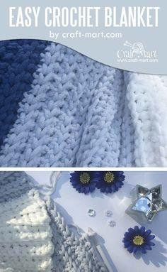 Simple and easy crochet blanket tutorial (FREE Bernat blanket yarn pattern) - Craft-Mart