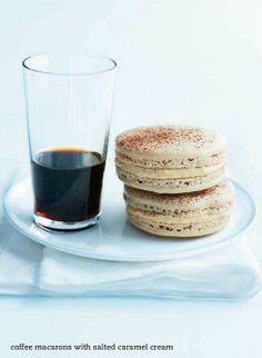 cOffee macarOns salted caramel cream center