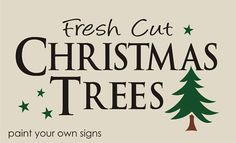 Primitive Country Stencils | Winter Stencil Fresh Cut Christmas Trees Stars Primitive Country ...