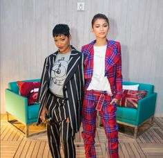 "Keke Palmer and Zendaya at the opening of ""The Penthouse Inspired by Vivienne Westwood"" at The London West Hollywood"