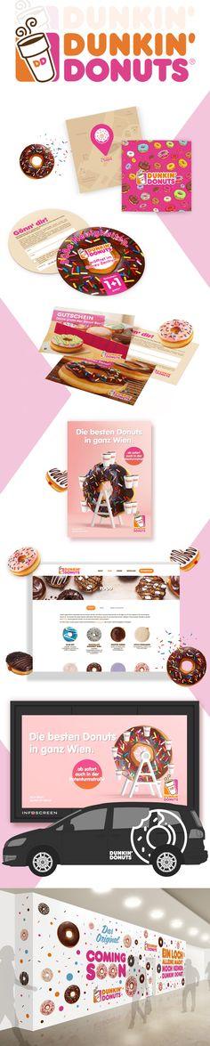 Dunkin´ Donuts - Corporate Design - designed by Designerpart - www.designerpart.com Web Design, Logo Design, Corporate Design, Dunkin Donuts, Grafik Design, Designer, Projects, Creative, Design Web