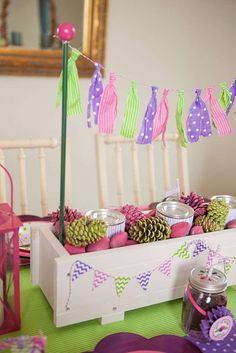 A Glam Camping Birthday Party | CatchMyParty.com
