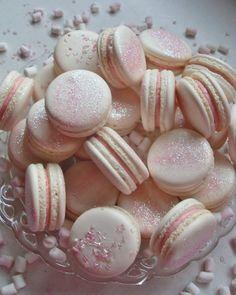 Pink Glitter Macarons <3