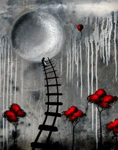 Lowbrow Art Fantasy Print - Just Another Dream by Jaime Best - Arte Lowbrow, Art Fantaisiste, Tableau Design, Pop Surrealism, Moon Art, Whimsical Art, Print Artist, Surreal Art, Dark Art