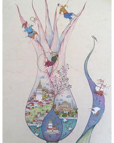 Turkish Art, Sufi, Caligraphy, Mandala Art, Islamic Art, Traditional Art, Istanbul, The Dreamers, Vibrant Colors