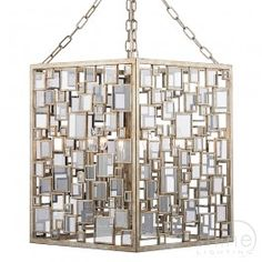Foyer FOY0435 by Dar Lighting. A modern square geometric design inspired pendent.  Finished in antique silver fold finish.  Featuring smoked glass detail.   Double insulated (Class II)   4 x 60W SES CNDL (Not included)   Height adjustable prior to installation: supplied with 200cm of chain and cable.   Height: 90cm   Width: 37cm by 37cm £550.00