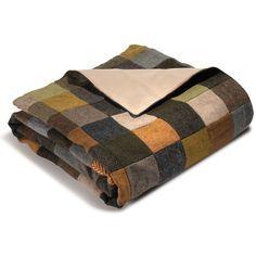 The Genuine Irish Tweed Patchwork Throw - Hammacher Schlemmer
