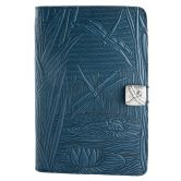 Leather Nook Cover   Dragonfly Pond in Sky Blue