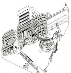 No. 1 Poultry. Stirling and Wilford. (Early version retaining Mappin & Webb) #unbuiltlondon