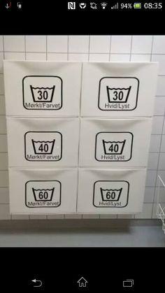Vasketøj i ikea skoskabe