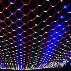 JIAEN Waterproof Decorative Led Net Mesh Fairy String Light with 8 Function Controller (Memory function, RGB) *** Additional info @