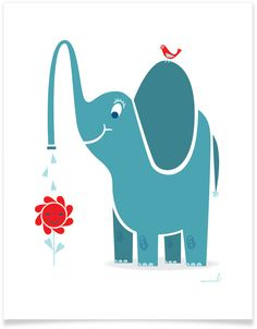 elephant for nursery wall art. adorable!