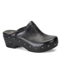 Look at this #zulilyfind! Black Bellrose Leather Clog by Söfft #zulilyfinds