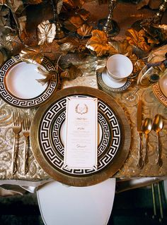 Gatsby inspired tablescape of golds