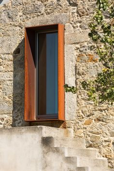 Gallery of SH House / Paulo Martins – 22 – architecture Design Exterior, Interior And Exterior, Interior Ideas, Window Detail, Corten Steel, Stone Houses, Window Design, Interior Architecture, Windows Architecture