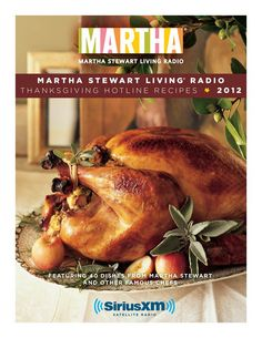 Get the best #Thanksgiving recipes from the Martha Stewart Living Radio Thanksgiving Hotline. Click to download the free cookbook!