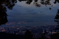 Day 83, Exchange, Restaurant with view, Night, Penang Hill, Penang, Malaysia