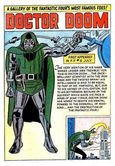 Marvel Masterwork Doctor Doom Pin-Up - Jack Kirby Marvel Comic Universe, Marvel Comics Art, Marvel Comic Books, Comics Universe, Comic Books Art, Book Art, Marvel Villains, Marvel Characters, Marvel Heroes