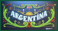 MANDYNGA - FILETEADO PORTEÑO - Artefileteado: ARGENTINA - Fileteado Porteño Type Illustration, Argentina Travel, Pinstriping, Vintage Signs, Kitsch, Decoupage, Stencils, Art Pieces, Mandala