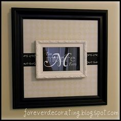 I'm not a particularly huge monogramming fan but I LOVE the idea behind this project! -Double Framed Monogram Wall Art