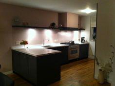 Keuken gespoten mdf. Geleverd door www.steigerhoutenzo.com