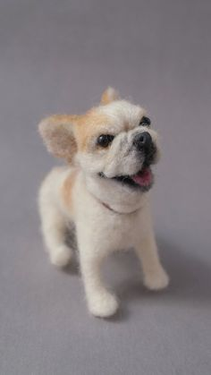 Items similar to Love the Furkids of sculpture Bulldog needle felted Dog, 3 to 4 inches on Etsy