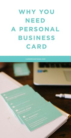 You've probably had a company business card, but have you had a personal one? We partnered with @moohq to redesign the Career Contessa business cards, and it got us thinking... There are SO many times when having a personal business card comes in handy.