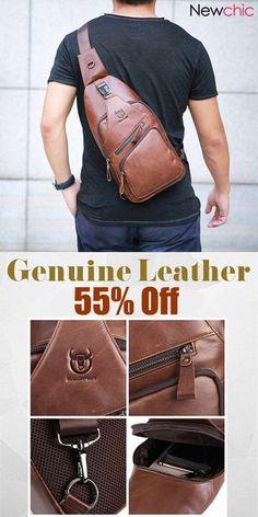 7b6b0a97dfef Bullcaptain Genuine Leather Large Size Chest Bag Sling Bag Single-shoulder  Crossbody Bag For Men  Big Sale Leather Large Size Chest Bag Sling Bag ...