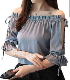 40 Magnificent Ideas Summer Work Outfits for Women - Cimonds Stylish Tops, Stylish Dresses, Women's Fashion Dresses, Maxi Dresses, Blouse Styles, Blouse Designs, Mode Kpop, Sleeves Designs For Dresses, Mode Chic