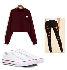 """Untitled #212"" by briannaxbolivar on Polyvore featuring Hollister Co. and Converse"