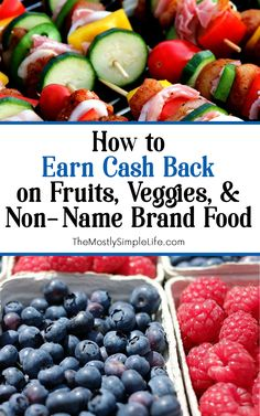 You can earn cash back on fruits, veggies, and non-name brand foods! No coupon clipping. It's super easy. Save money on the healthy stuff! Awesome tutorial shows exactly how to do it!