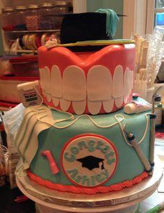 Pin by Kaneshia McCraney on Dental Hygiene Dental Hygiene Student, Dental Humor, Dental Assistant, Dental Hygienist, Dental Cake, Specialty Cakes, Cupcakes, Dentistry, Amazing Cakes