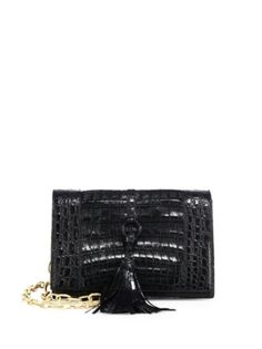 Nancy Gonzalez - Small Crocodile Leather Convertible Clutch