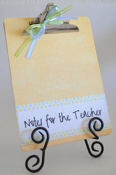 Notes for the Teacher Teacher Appreciation Notes, School Teacher, Place Cards, Place Card Holders