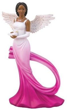 Sash Angel Figurine Fuchsia-This African American Angel figurine is from the Graceful Angel Collection is Classy and Inspirational. This fuchsia and w African Figurines, African American Figurines, Black Figurines, Black Art Pictures, Angel Pictures, Black Is Beautiful, Beautiful Pictures, Pretty Images, Beautiful Eyes