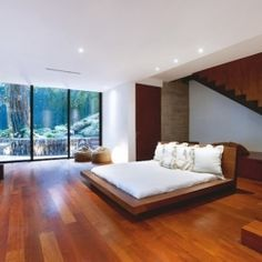 There's nothing more enchanting than this sleek bedroom in the middle of a South American forrest.