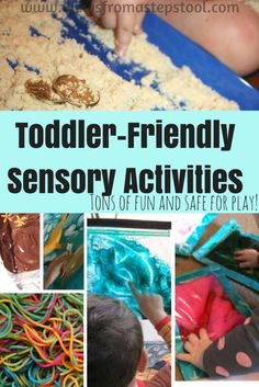 These toddler sensory activities are safe for young children to play with, all while engaging the senses and experiencing play-based learning.