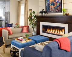 Linear Fireplace Design, Pictures, Remodel, Decor and Ideas - page 2