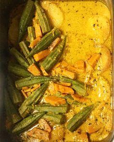 Steamed Okra & Bammie #healthy #organic #Vegan #choices #onlyhere #mtdennis #Okra #Bammie #RunDown #DunFas by veezvegan