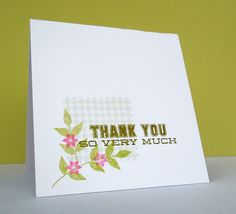 Stamping & Sharing: A Whole Lotta Thanks