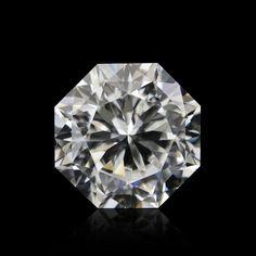 carat, H Diamond, Octagon Shape, Clarity, SKU 274822 Diamond Shaped Engagement Ring, Engagement Ring Shapes, Engagement Rings, Gold Hoops, Gold Hoop Earrings, Statement Earrings, White Gold Diamonds, Colored Diamonds, Diamond Shapes