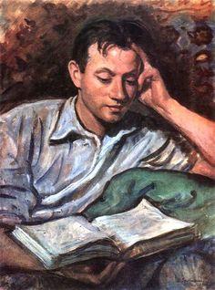 alexandre lendo um livro , 1946 Zinaida Serebriakova