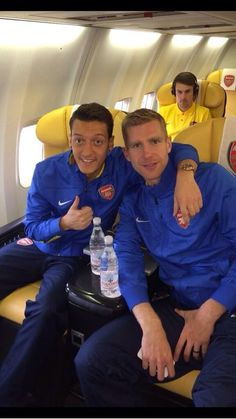 Per and Mesut before tomorrow's game.