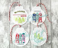 City Scene Revisited: Christmas In The City Tags by Danielle Flanders for Papertrey Ink (May 2016)