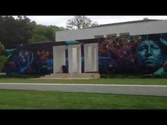 "Video of the ""Gateway"" mural in Nashville, TN by Weirdo and Joe Nix.  www.franklinandthomas.com"