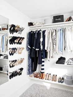 Really I just like how the shoes were hung   5 Closet Cleaning Tips You Haven't Heard Before via @WhoWhatWear