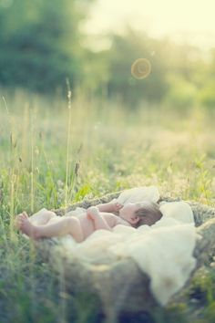 I will definitely do sweet pictures in a field with a baby someday.
