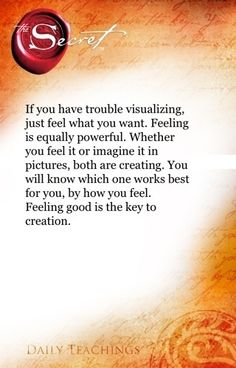 If you have trouble visualizing, just feel what you want. Feeling is equally powerful. Whether you feel it, or imagine it in pictures, both are creating. You will know which one works best for you, by how you feel. Feeling good is the key to creation.  Click--> https://www.LawofAttractionSecrets.ca