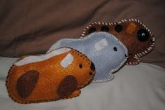guinea pig plushies-could do other animals too.