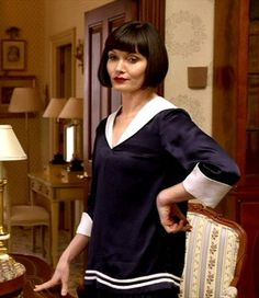 miss fisher. Middy blouse w Joan's fine cotton